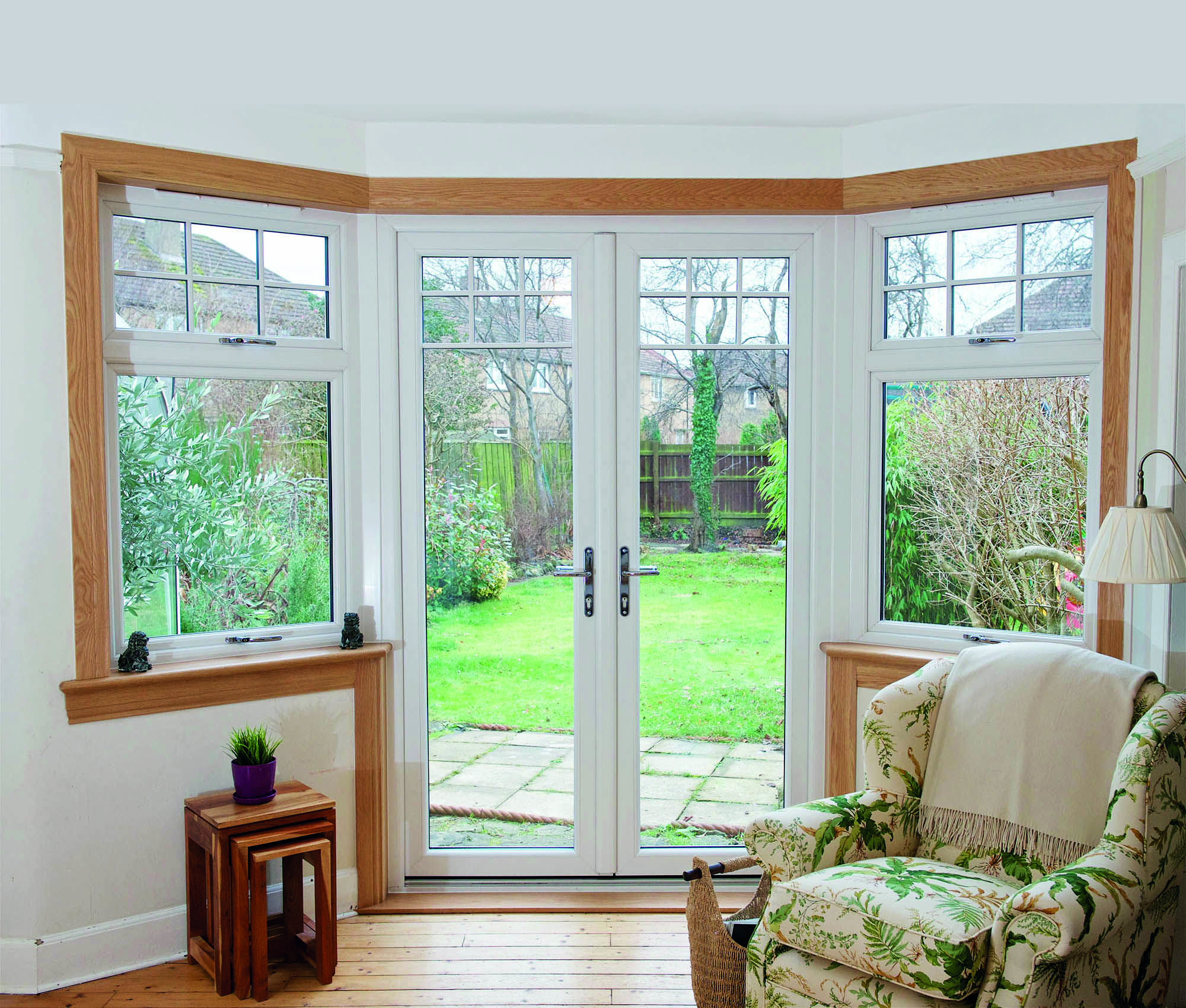Open Up Your Home And Garden With A Stunning Lorimer French Door The Owners Of This Home Re In 2020 Living Room Patio Doors Bay Window Living Room French Doors Patio