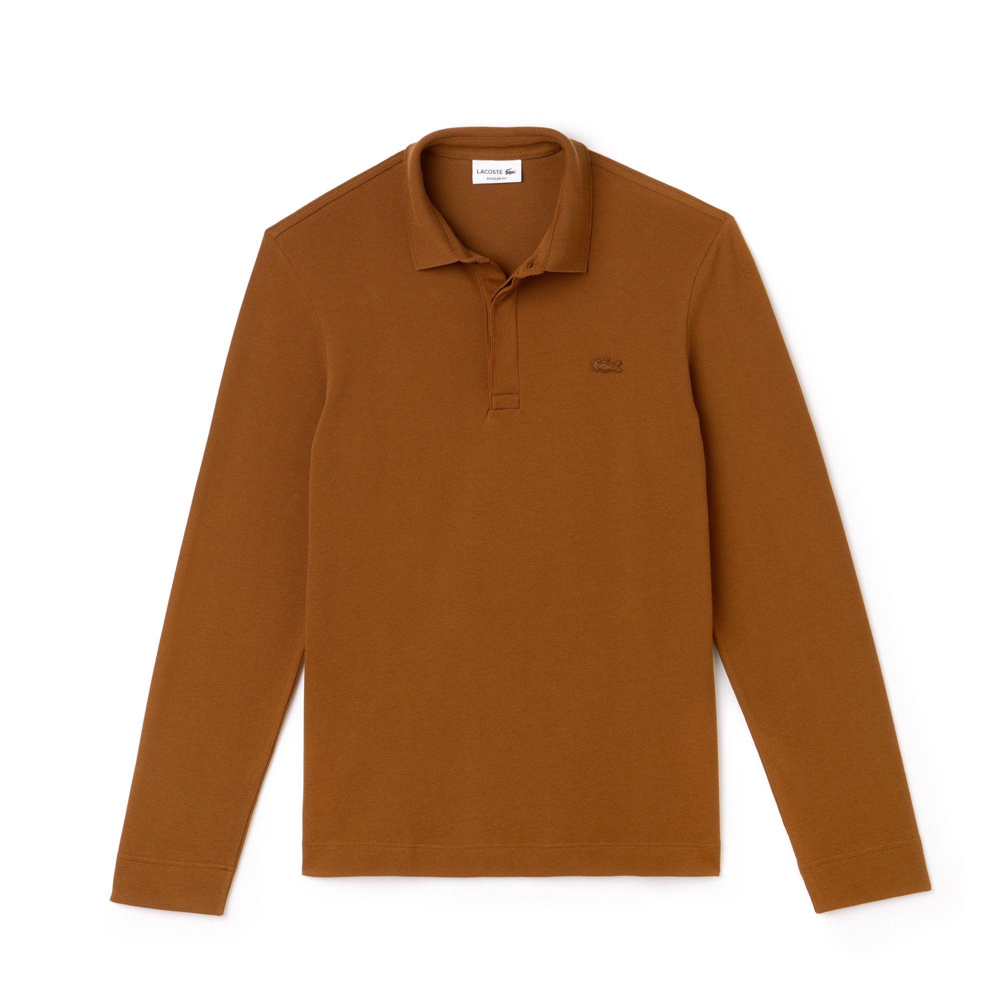 969d1ce6ba4f LACOSTE Men s Long-sleeve Paris Polo Regular Fit Stretch Cotton Piqué.   lacoste  cloth