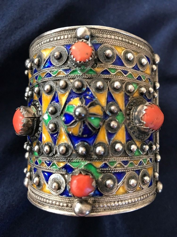 Details about b antique berber kabyle silver coral