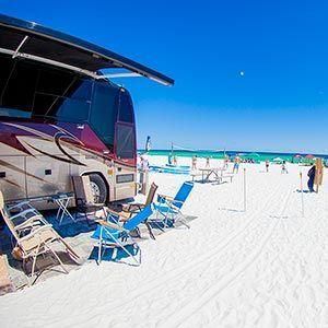 camp gulf rv park destin florida beaches ocean pinterest