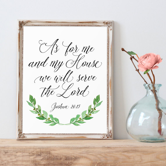 Scripture Printable, As For Me And My House, Christian Quote ...