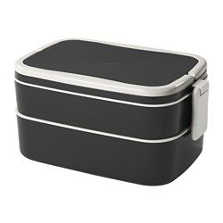flottig lunch box black white lunch box food waste and lunches. Black Bedroom Furniture Sets. Home Design Ideas