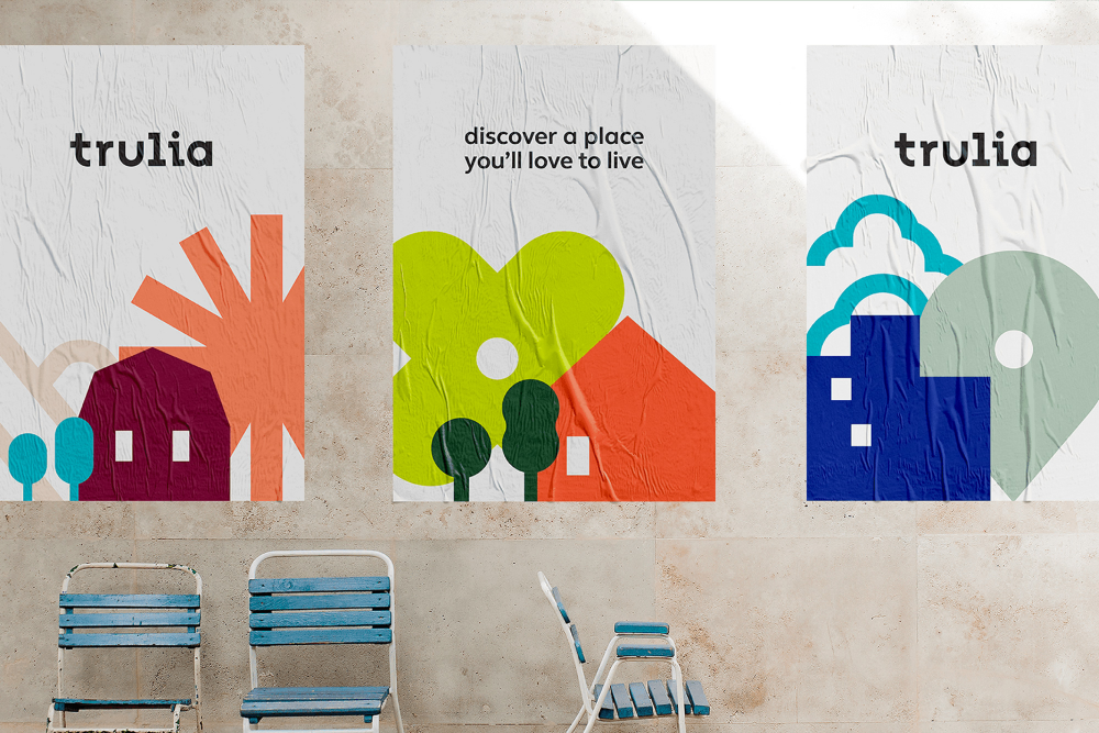 New Logo And Identity For Trulia By Design Studio Word Mark Logo Identity Logo Identity