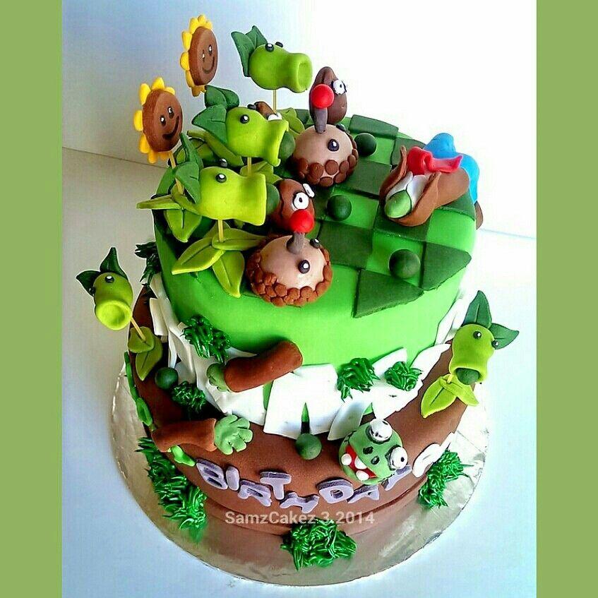 Plants Vs Zombies Garden Warfare  Cake Designs