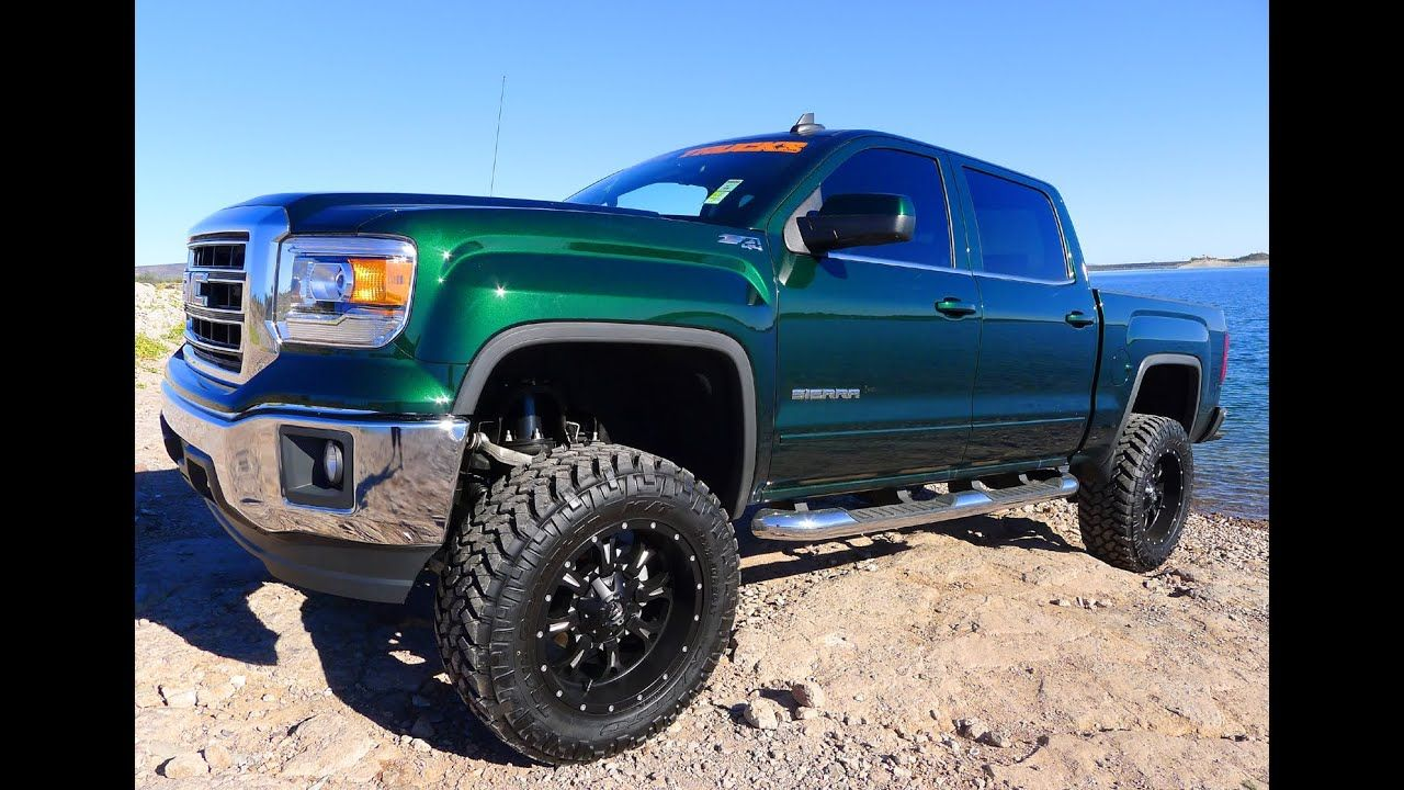 2015 GMC SIERRA 1500 Z71 CREW CAB 4X4 LIFTED TRUCK FOR