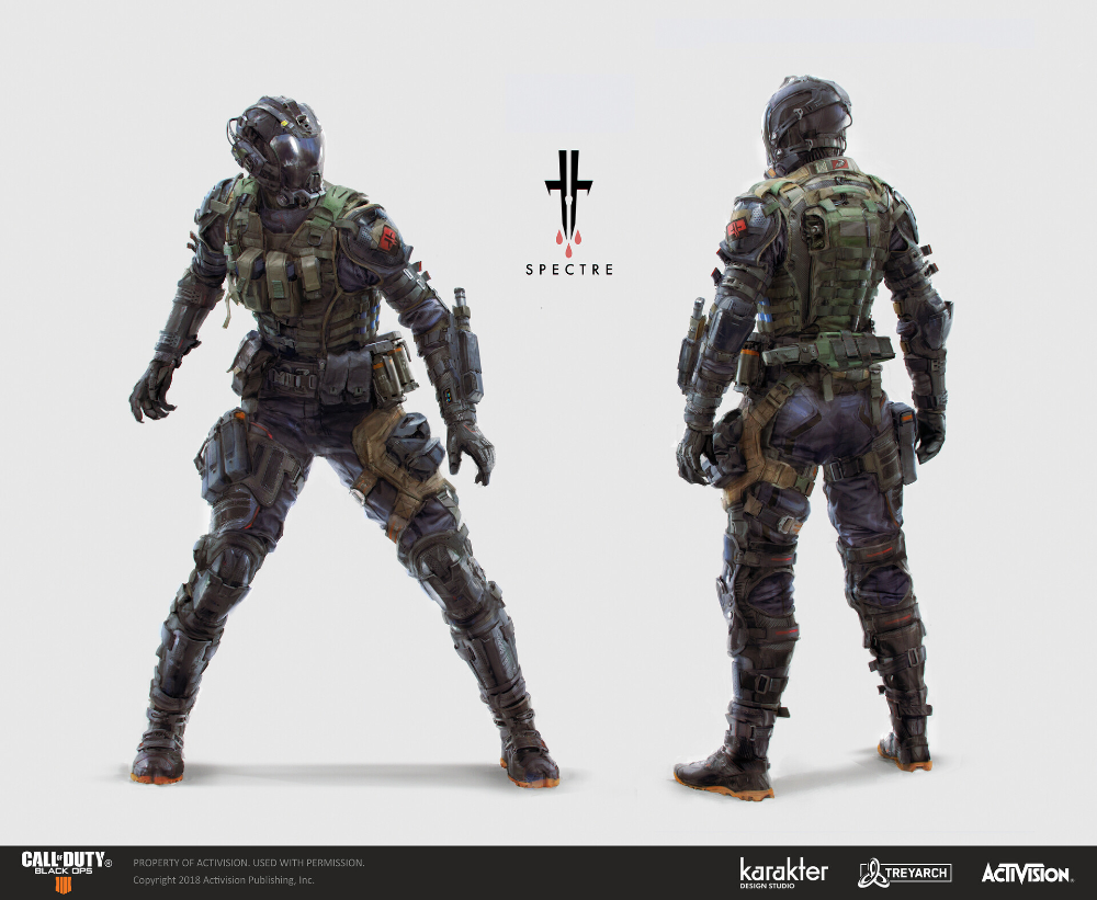 Artstation Cod Black Ops 4 Spectre Karakter Armadura Corporal Trajes Espaciales Militar