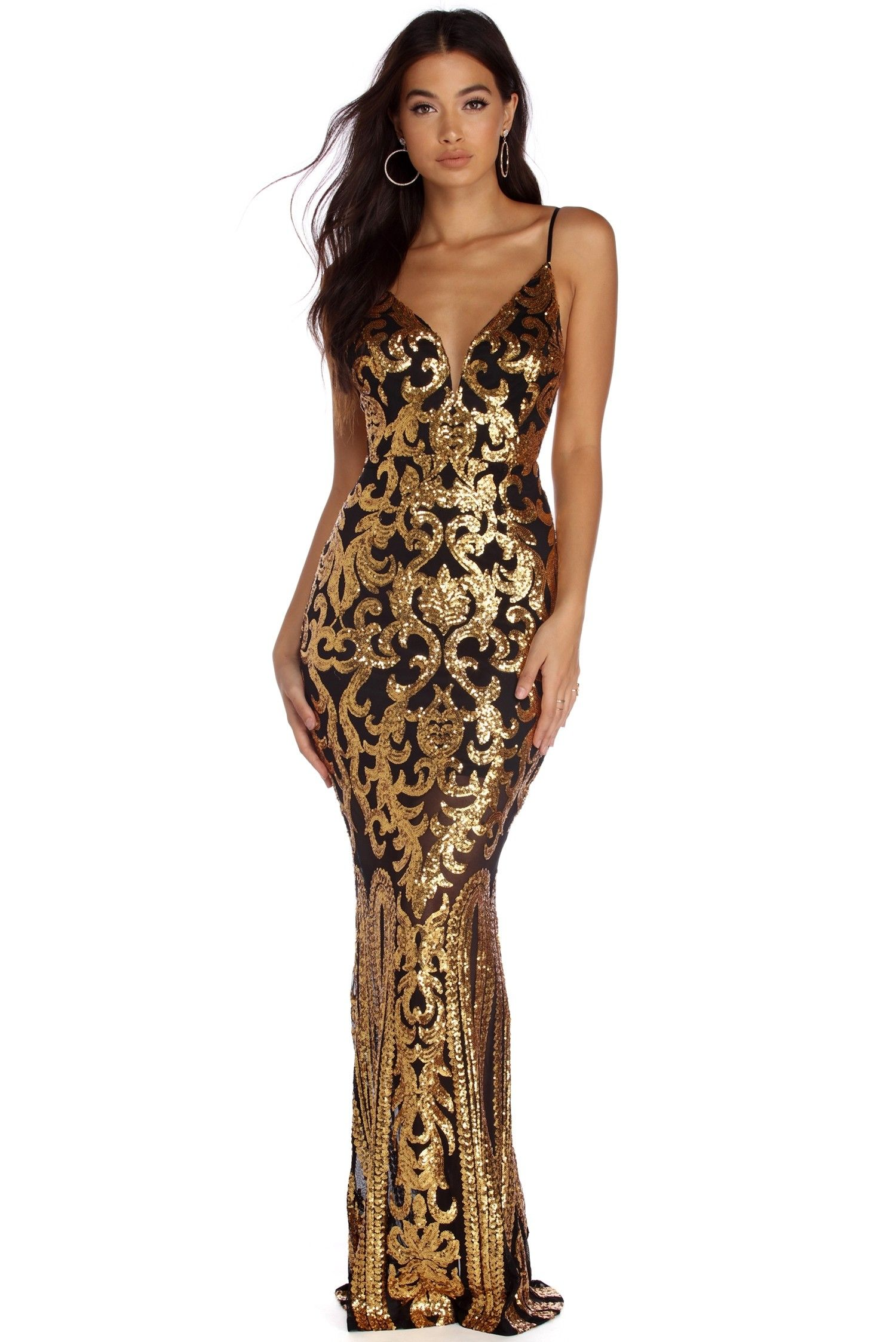 52306f618c18b Roseanna Formal Sequin Scroll Dress in 2019 | evening dresses ...