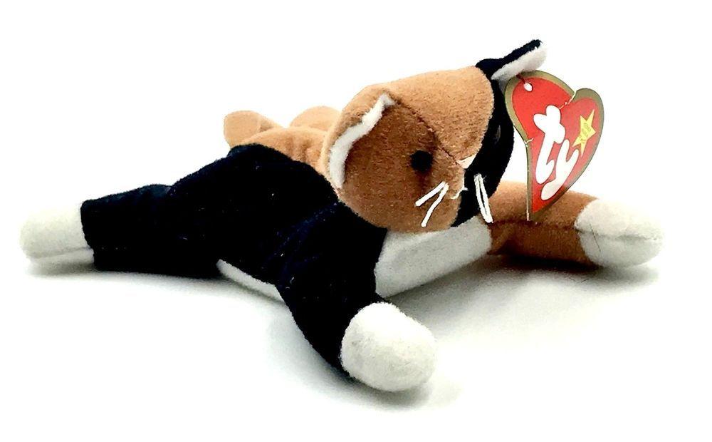 5893798dac8 TY TEENIE BEANIE BABIES CHIP CAT RARE RETIRED WITH SWING   TUSH TAG KIDS  TEDDY