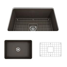 Bocchi Sotto 27 In X 19 In Matte Brown Single Basin Undermount