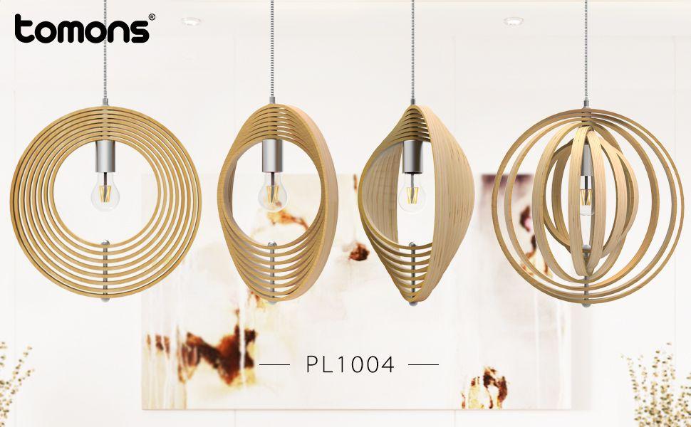 Tomons Pendelleuchte Holz Im Mobile Stil Hangeleuchte Mit Aussergewohnlichem Design Im Nordischen Stil Rahmene In 2020 Hangeleuchte Nordischer Stil Pendelleuchte Holz
