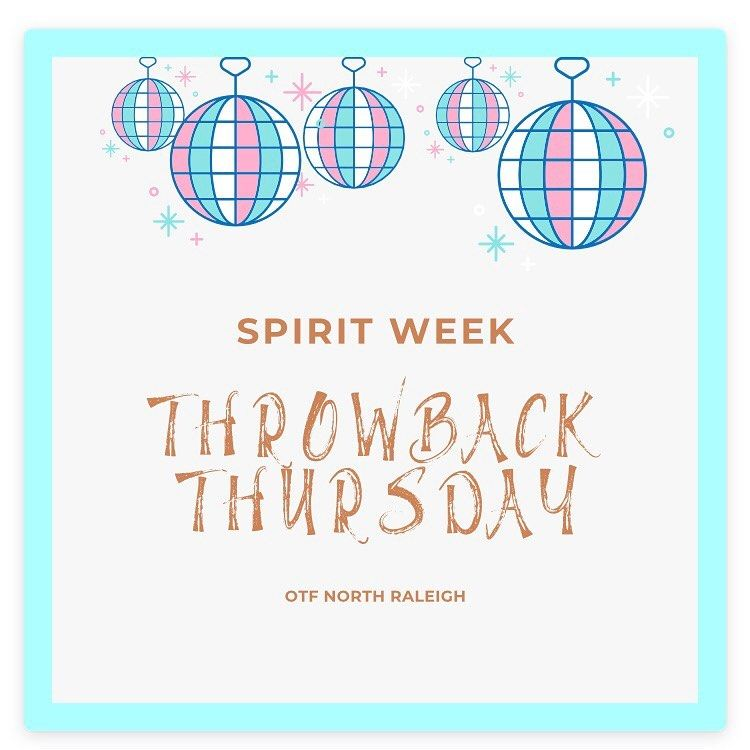 Throwback Thursday is tomorrow! Bring out the shinny pants, scrunchies and bold colors! 🙌🏼 . . . . #...
