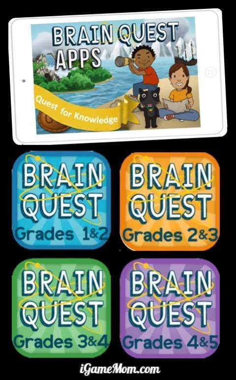 Brain Quest Apps for Kids Grade k to 5, math, science
