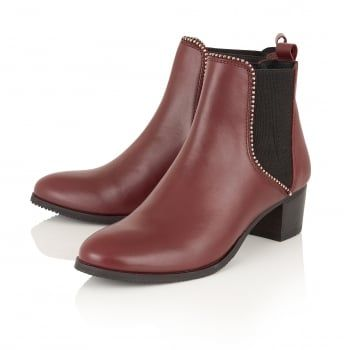 Buy Ravel ladies' Henderson ankle boots online in cherry leather ...