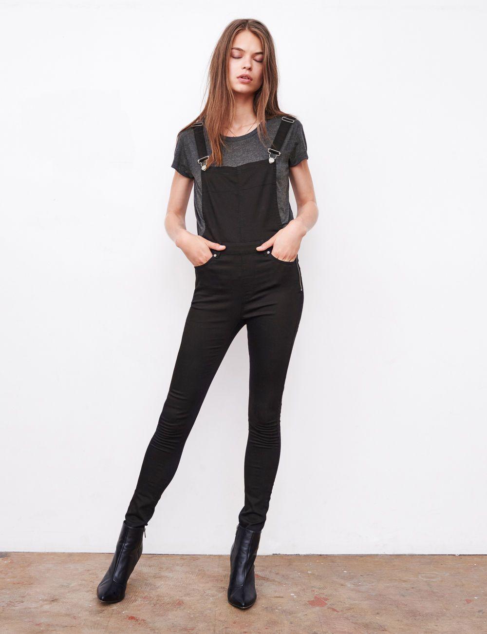 Salopette taille haute kaki femme. Pantalon Femme   Destroy, Push-Up,  Fluide… 48f8b4b23b8a