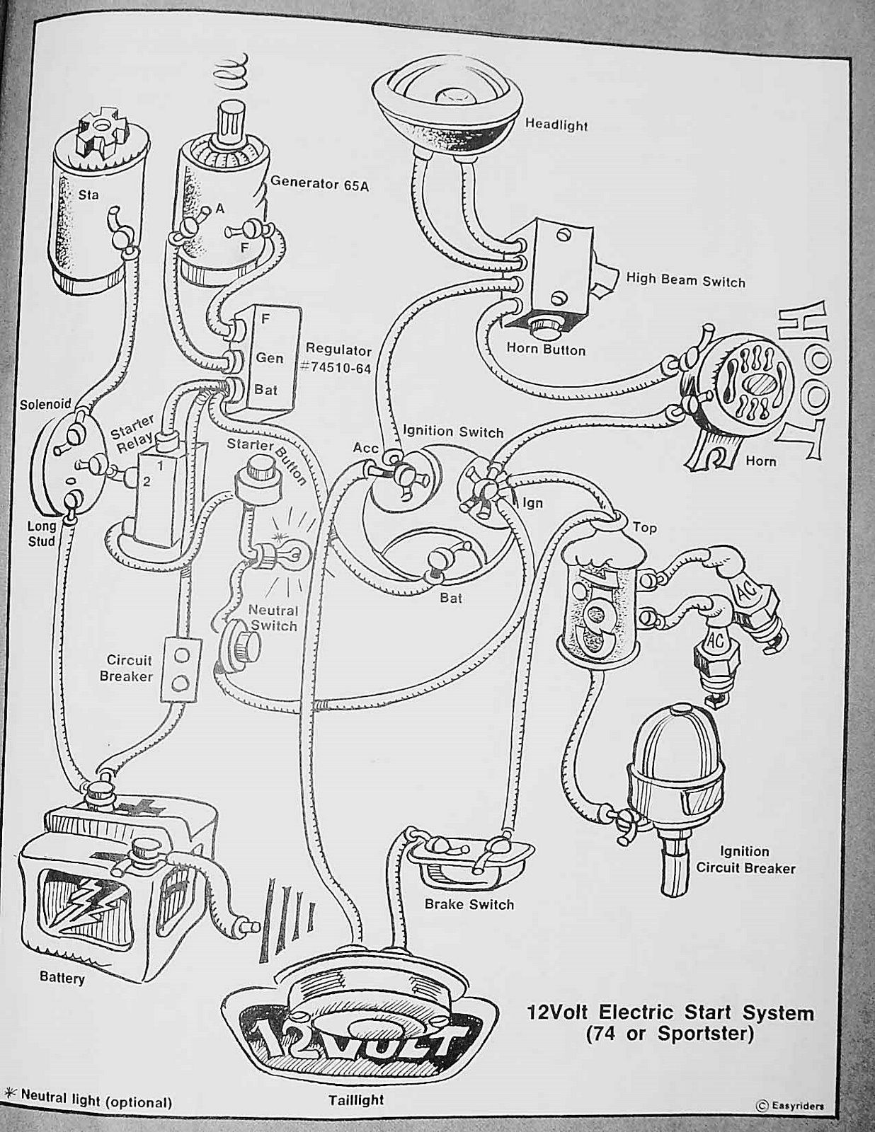 Harley Wiring Diagrams | Biltwell Inc. | bike stuff ... on