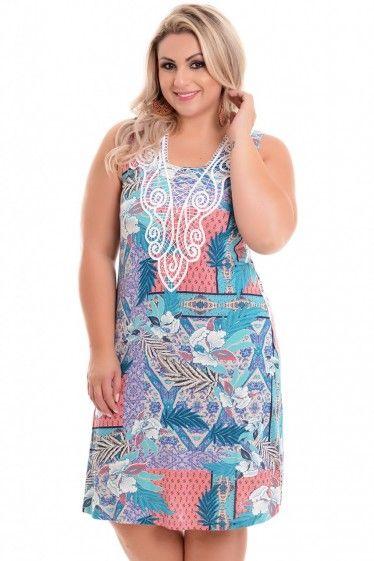 Vestido Plus Size Delicada