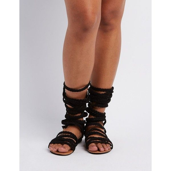 3b79dd4f1c5c0 Twisted Wide Width   Calf Gladiator Sandals ( 11) found on Polyvore  featuring women s fashion