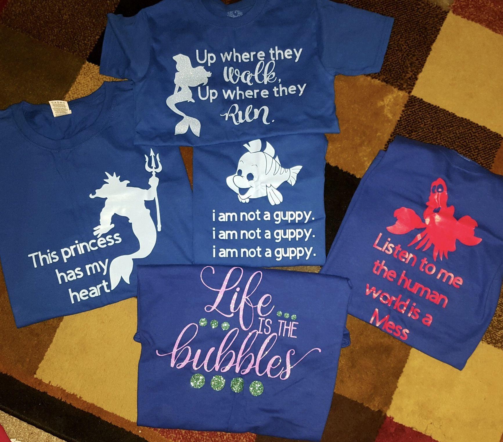 Little Mermaid Family Shirts Disney