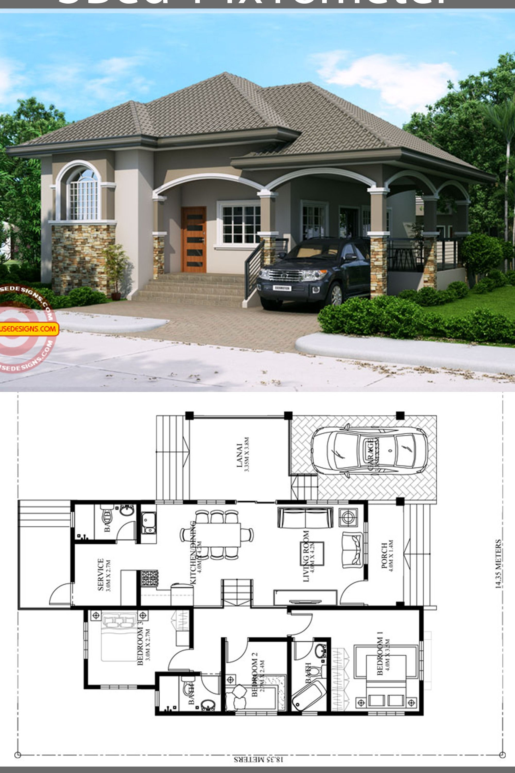 Pin By Muliadi Muliadi On Simple House Design Bungalow Floor Plans House Construction Plan House Plan Gallery