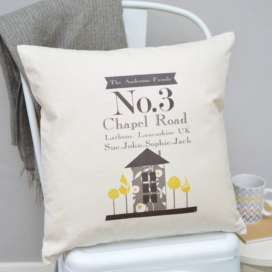 New Home Personalised Cushion | Personalised cushions and Creative