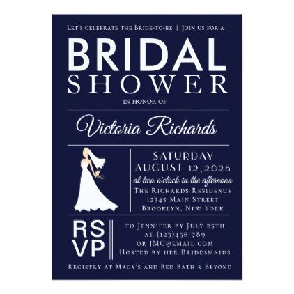 Bridal Shower Email Invitations