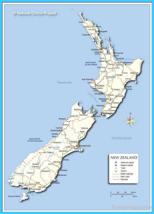 awesome Map of New Zealand Travelsmaps