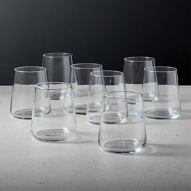 Neat Double Old Fashioned Glass Set Of 8 Reviews Old Fashioned Glass Glass Set Drinkware Storage