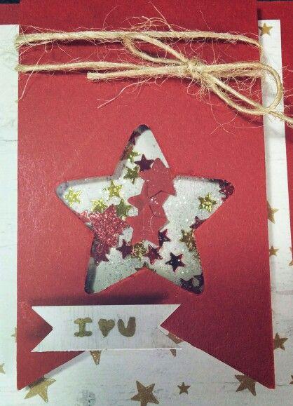 Christmas star shake card