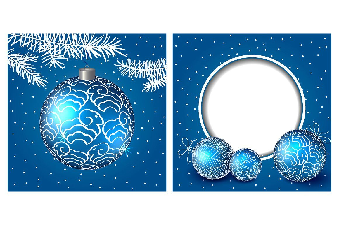 Christmas balls and cards by Ulafant on @creativemarket