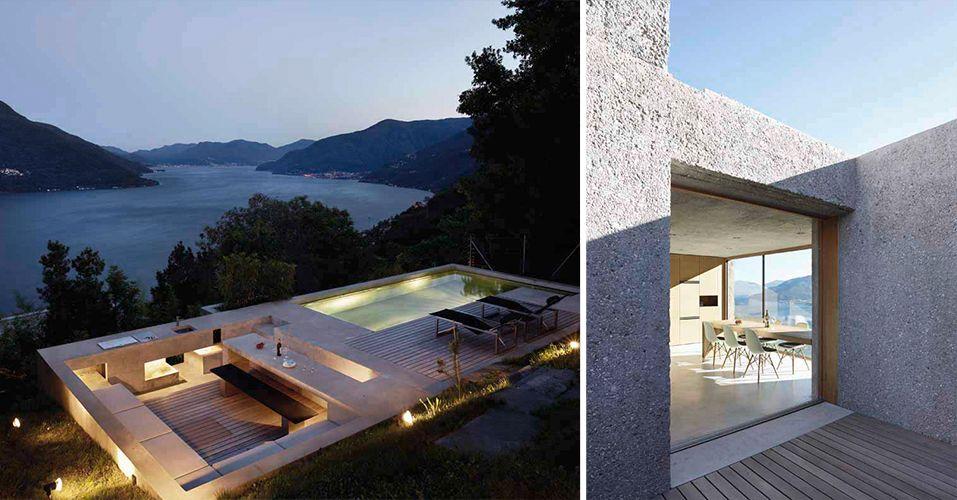 Wat een huis wat een uitzicht en het terras met ingebouwd