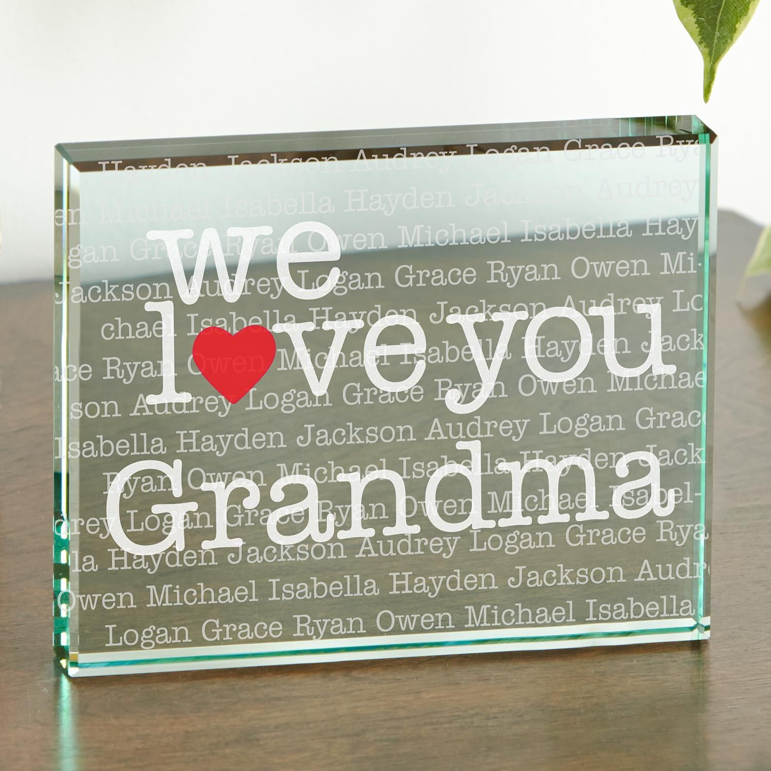 I We Heart 2 Sided Glass Block in 2018 Products