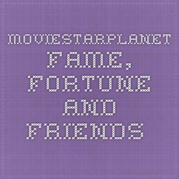 Moviestarplanet Fame Fortune And Friends Vip Pinterest