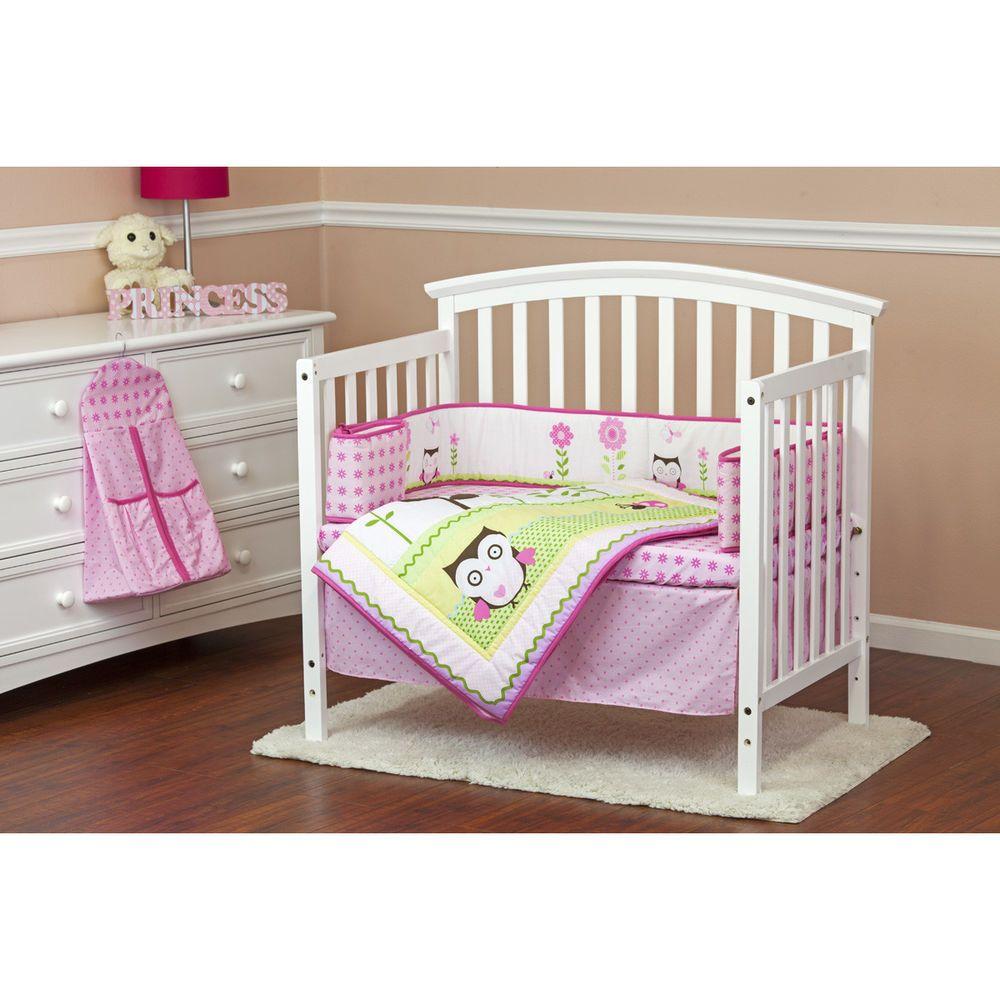 Portable Or Mini Crib Bedding Sets For Girls 5pcs Mini Crib Sheets Baby Owl New Mini Crib Bedding Crib Bedding Girl Toddler Bed Set