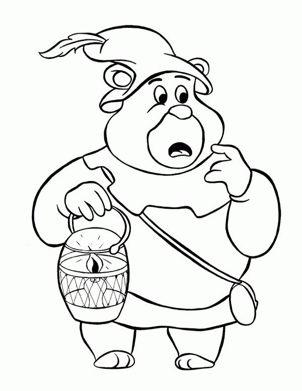 gummi bears coloring pages 2