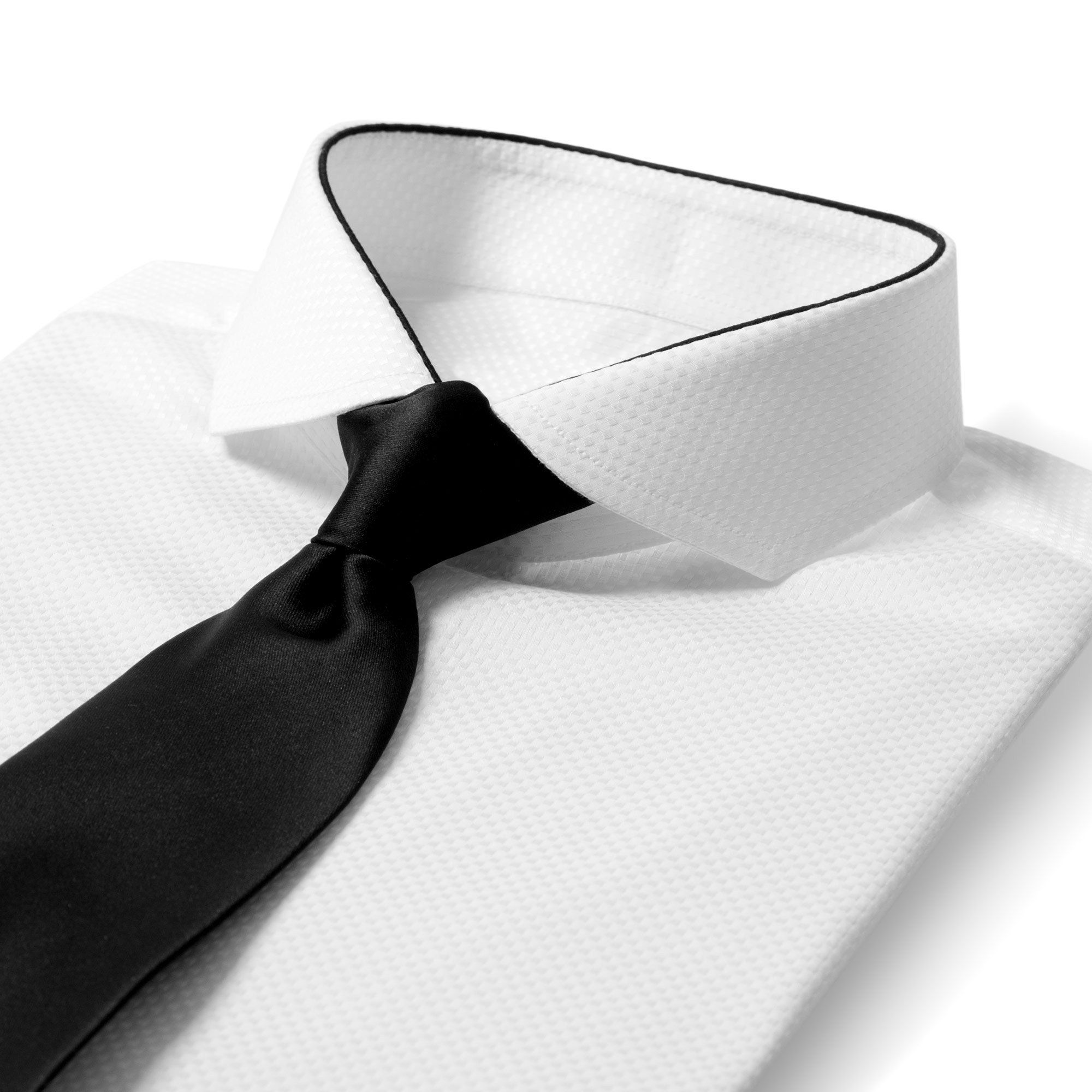bb729dcd4eef7c Edge Modern White Dress Shirt with Black Tie | menswear | Shirts ...