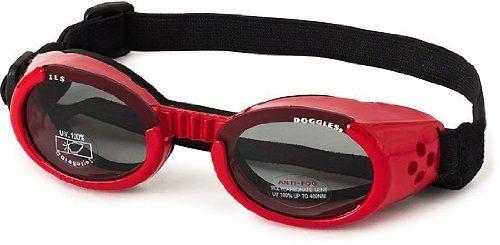 Doggles ILS Medium Shiny Red and Smoke Lens - http://www.thepuppy.org/doggles-ils-medium-shiny-red-and-smoke-lens/