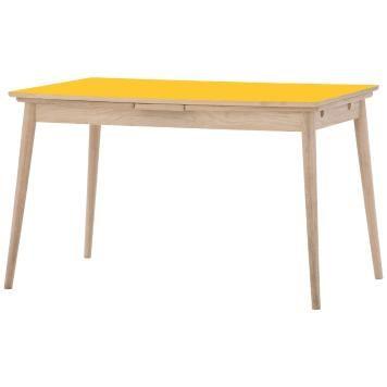 Esstisch Gelb Tisch Esszimmertisch Designer Retro-Esstische - ausziehbarer esstisch glas holz kunststoff