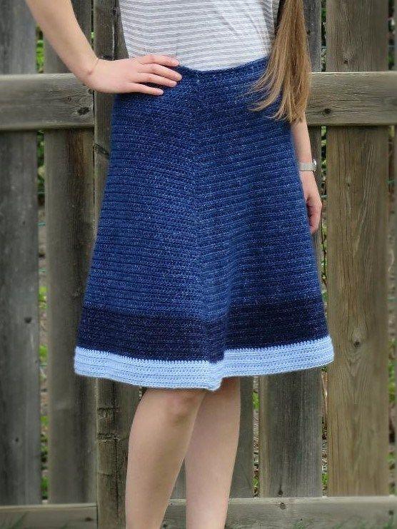 Jean Skirt Crochet Pattern - Shabby Sheep Apparel #crochet ...