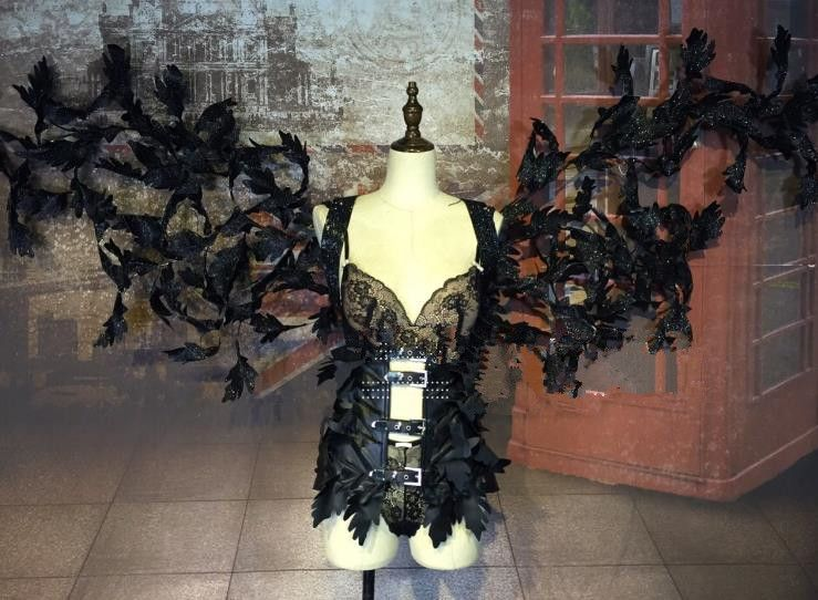 Model Feather Butterfly Dance Costumes Popular Ostrich Feathers Fancy Costume Stage Drama Costumes Angel Wing Fancy Costumes Dance Costumes Costume Accessories