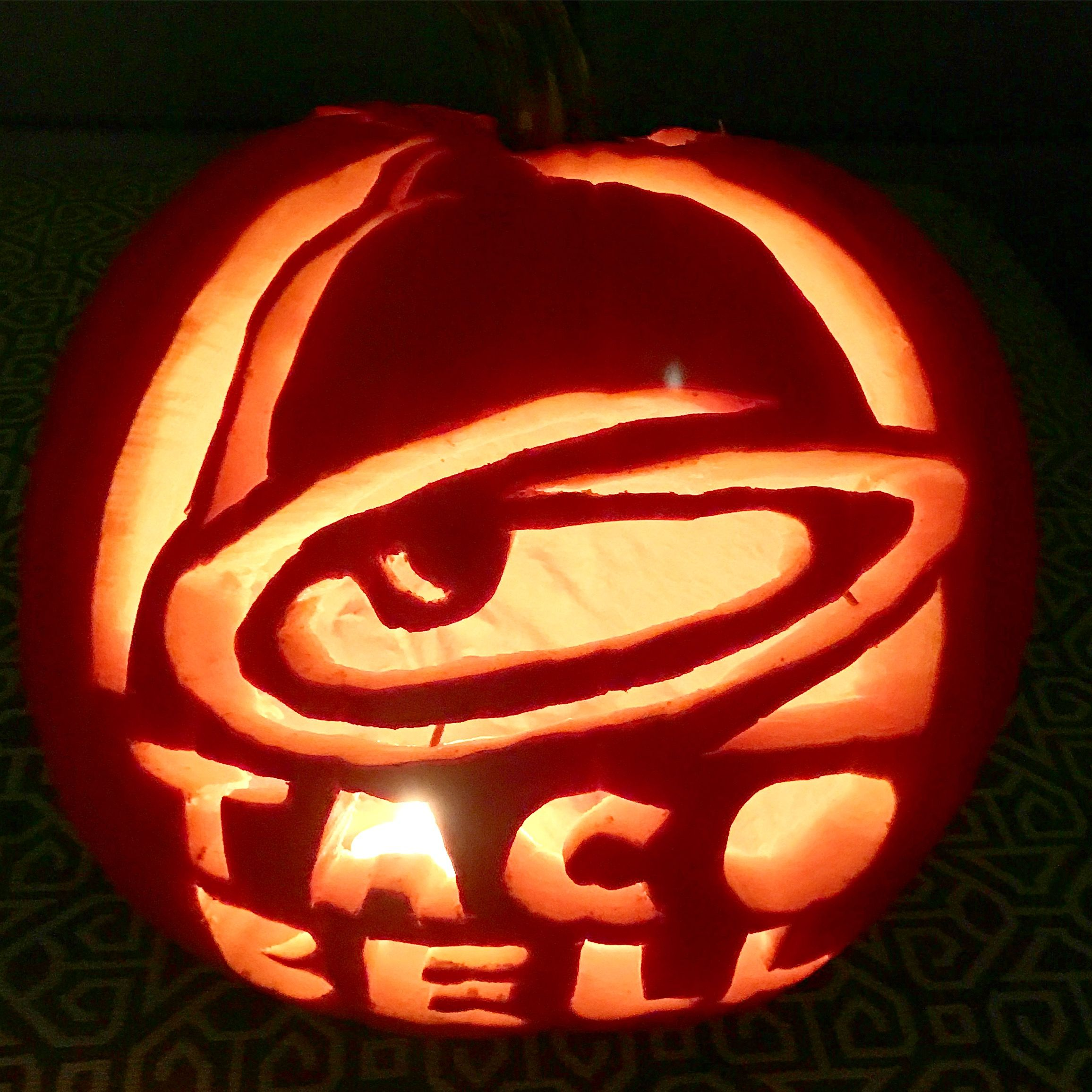 Taco Bell pumpkin carving DIY & Home Decor in 2018