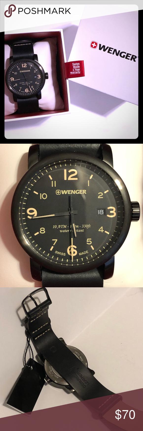 Wenger Men S Watch Bnib Accessories Watches Accessories Leather Watch