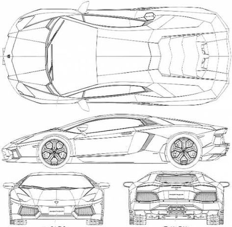 Image result for lamborghini aventador car blue prints