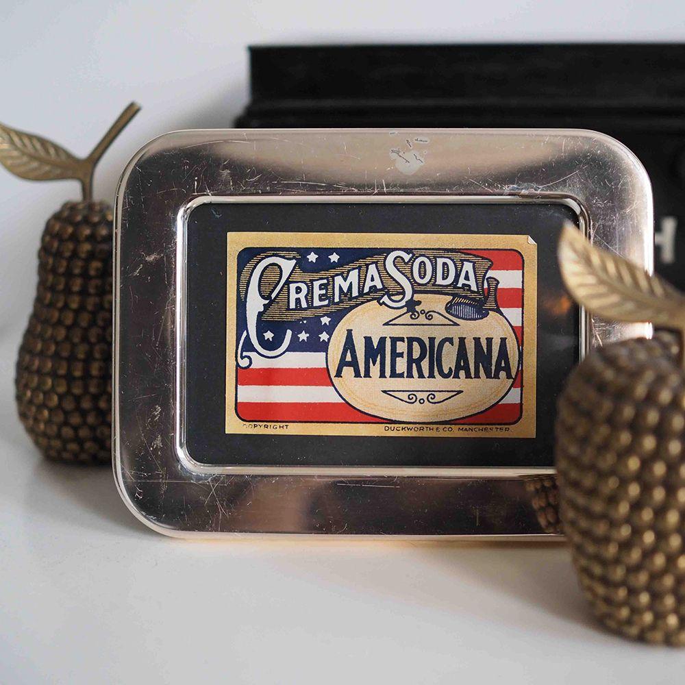 Framed Creme Soda Label // [homeware, vintage, vintage home ...