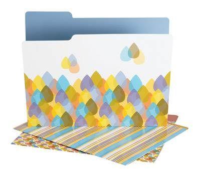 DIVOGA Raindrops File Folders 9/pk