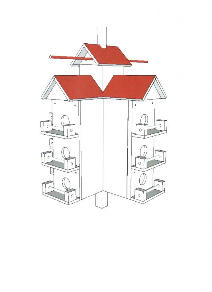 Free Purple Martin House Plans Original Rondeau Wooden Purple Martin House With Dimensions Bird House Plans Martin House Martin Bird House