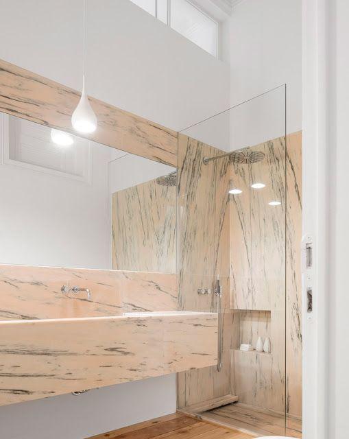 ATELIER RUE VERTE , le blog | Bathroom | Marbre rose, Salle de bain ...