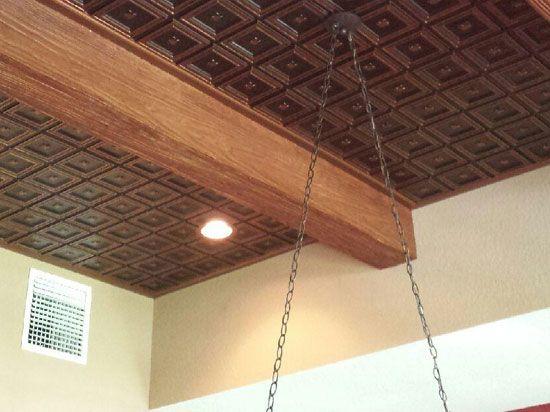 Dogwood Faux Tin Ceiling Tile Glue Up 24 X24 239