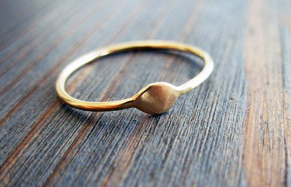 Gold Delight. Simple and Sophisticate 14K Thin by NoaSharonDesigns, $230.00