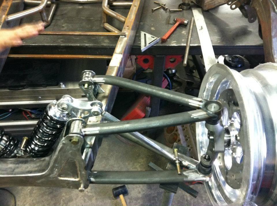 Custom hot rod front suspension auto build it for Suspension rond