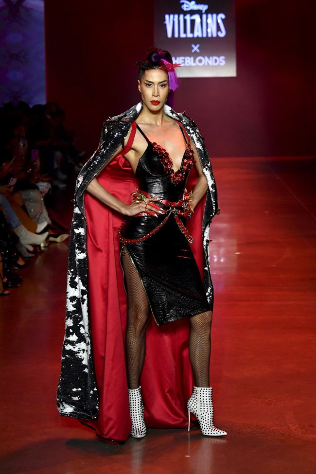 New York Fashion Week: Disney Villains x The Blonds Spring 2019 Collection | Tom + Lorenzo